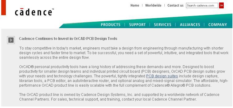 简介:  未通过安全和安装测试,使用后果自负与本论坛无关 软件版权归原作者及原软件公司所有,如果你喜欢,请购买正版软件 注:此链接下载转自:TLF论坛 语言:英语 网址:http://www.cadence.com/orcad/ 类别:PCB设计 全功能增强套件,具有记时验证功能以及新OrCAD技术!是目前为止OrCAD功能最强大的一个版本。 Cadence OrCAD 10.