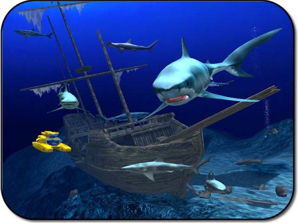 简介:  一个在国外荣获大奖的三维海底鲨鱼屏幕保护程序,在深蓝神秘的海底,沉没了一艘西班牙大帆船,一艘黄色的潜水艇来此探险,周围不时有一条条张着血盆大口的鲨鱼游来游去....精美的画面加上逼真的音效,实在是不可多得的精品屏幕! 可以用完美两个字来形容,前提是你的电脑配置不能太低了。 s/n: e94680b5789e02b36240b81c4c86b30b http://www.