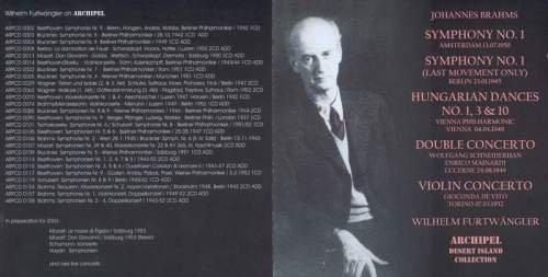 Furtwangler 富特文格勒指挥勃拉姆斯作品 Symphony No.1 ...