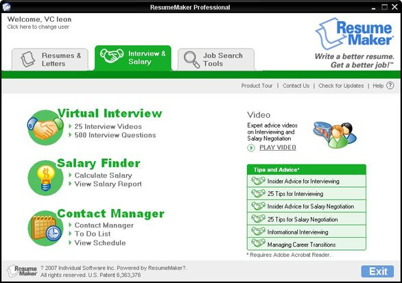winway resume maker